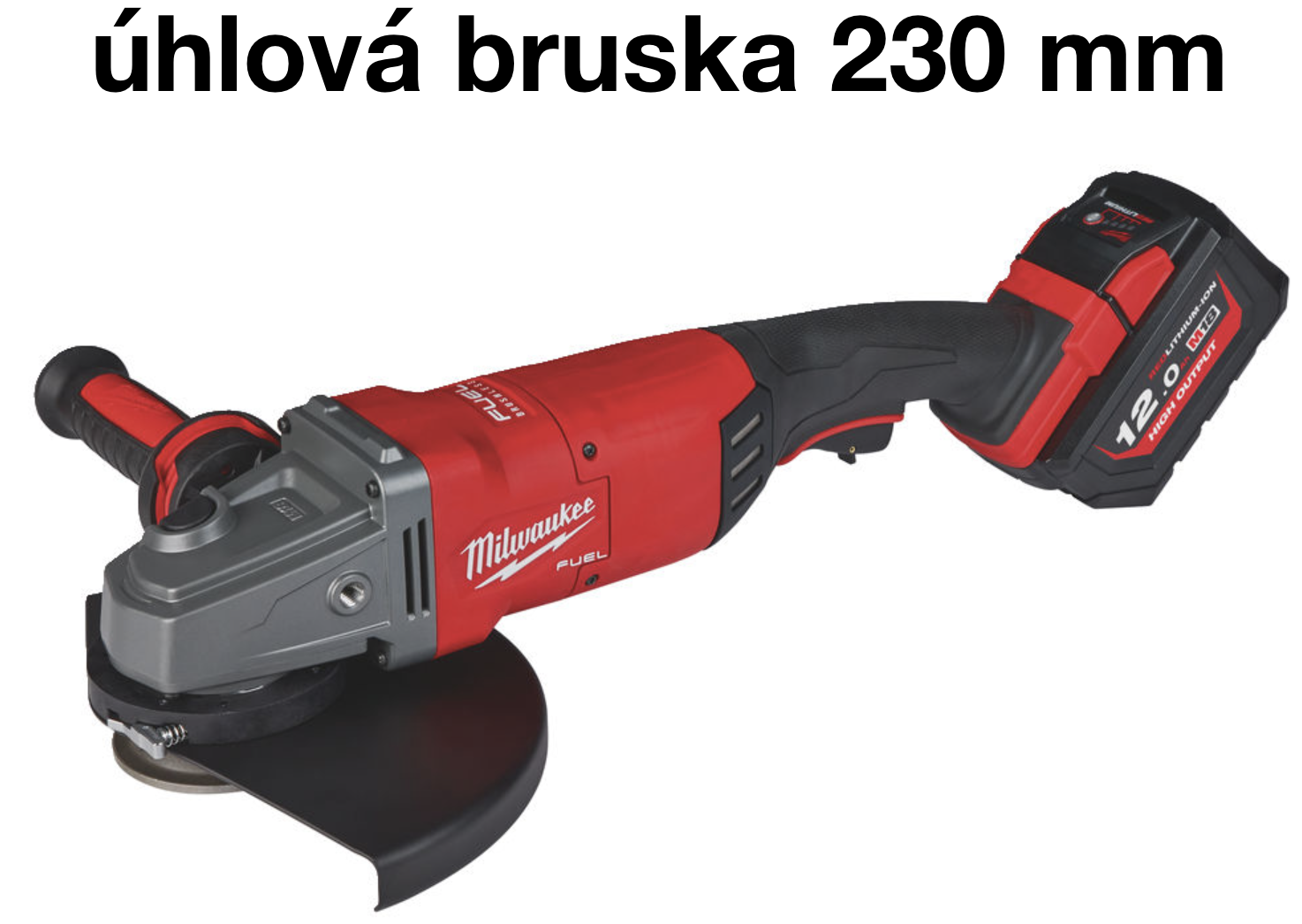 Milwaukee M18 FLAG230XPDB-121C, úhlová bruska