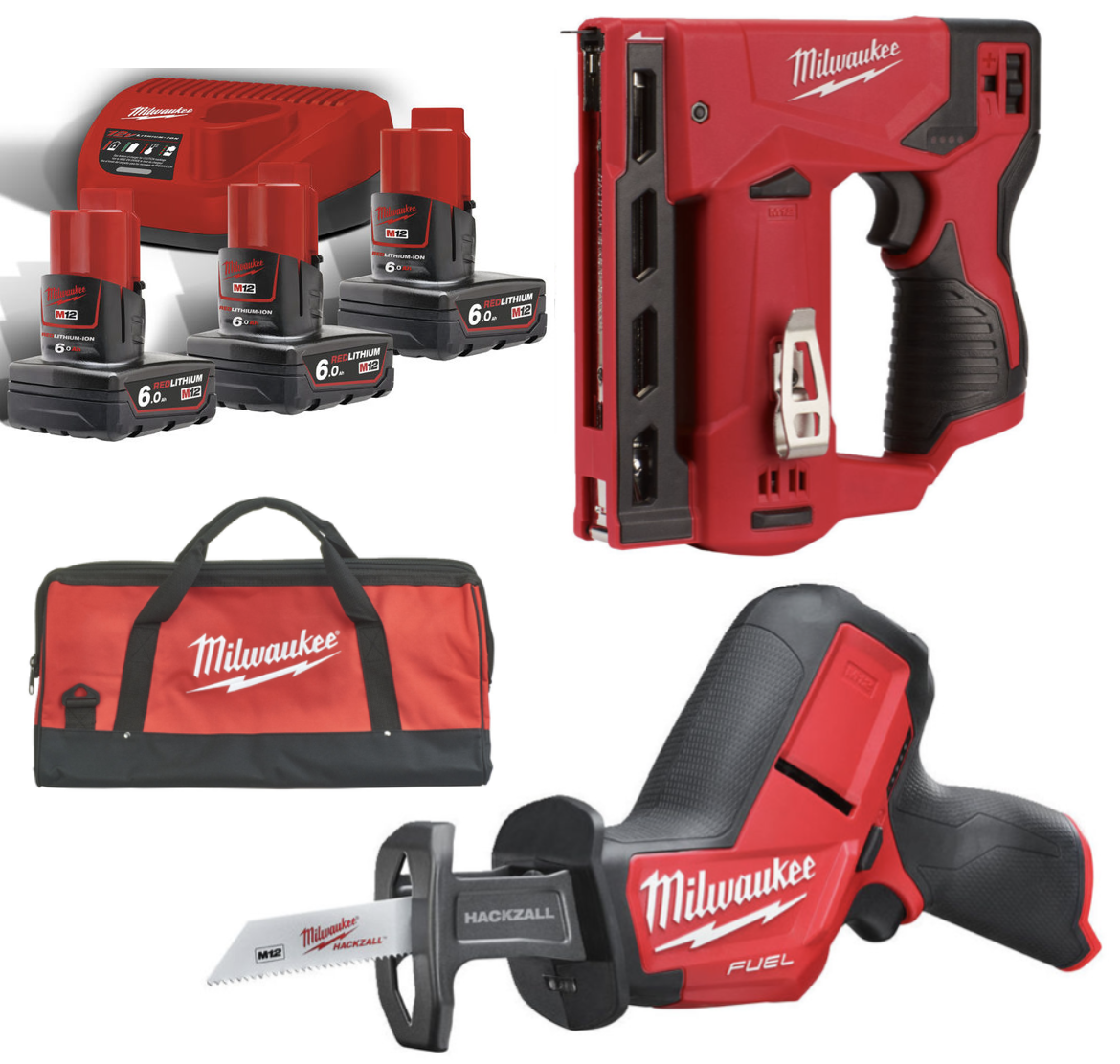 Milwaukee M12 CHZ + M12 BST + B6