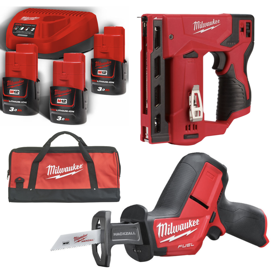 Milwaukee M12 CHZ + M12 BST + B3