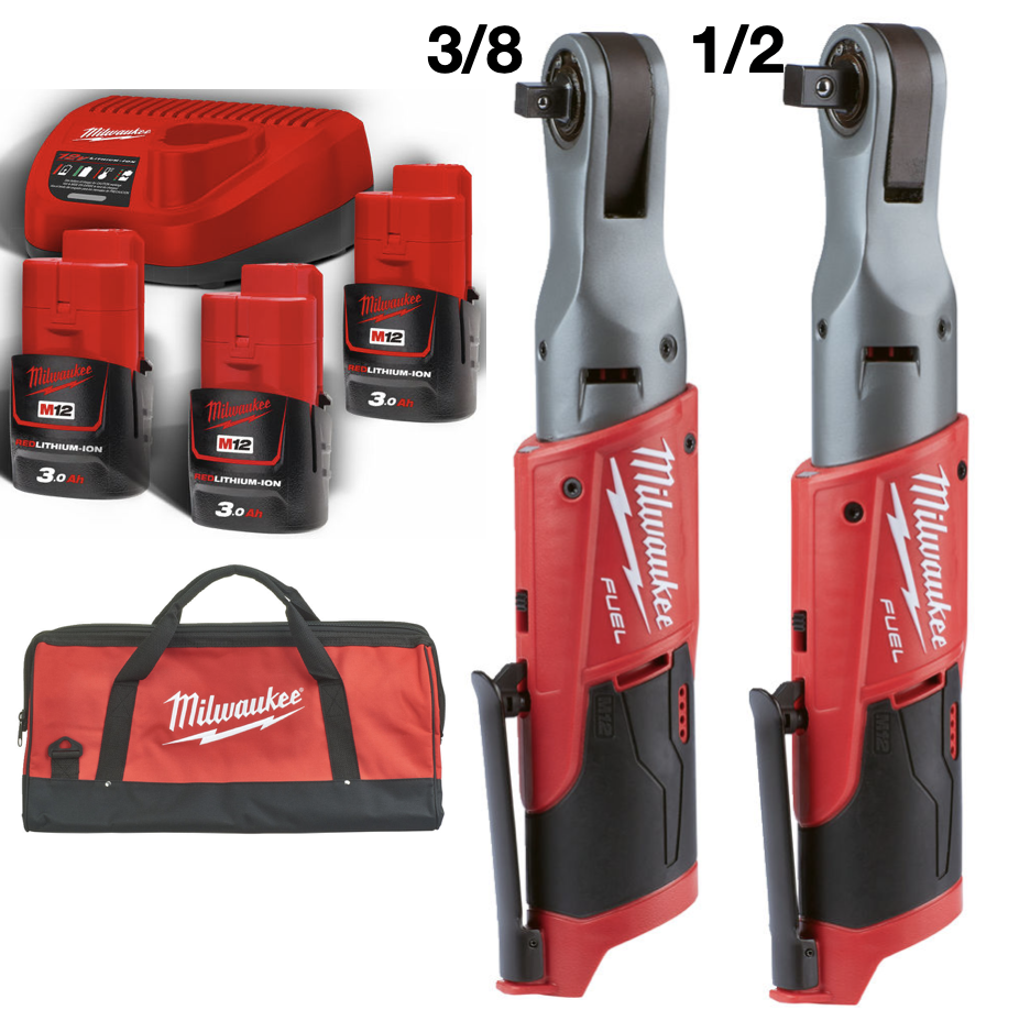 Milwaukee M12 FIR12 + M12 FIR38 + B3