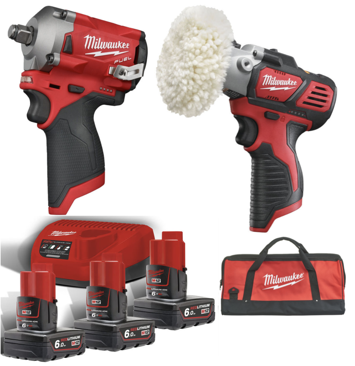 Milwaukee M12 FIWF12 + M12 BPS + B6