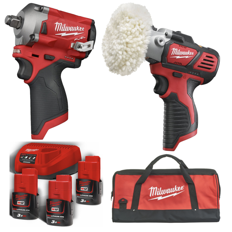 Milwaukee M12 FIWF12 + M12 BPS + B3