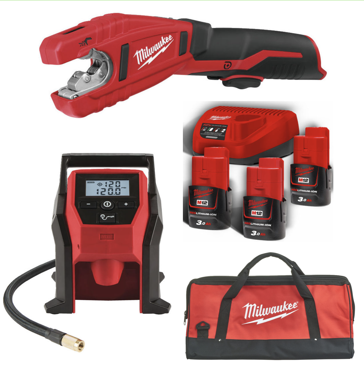 Milwaukee M12 BI + C12 PC + B3